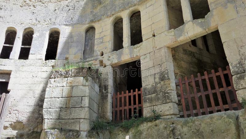 Castelo Castelo de Breze no Loire Valley França imagem de stock royalty free