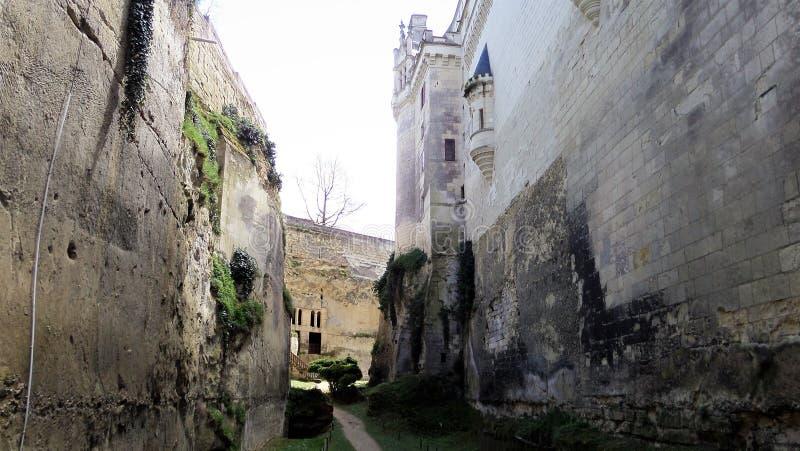 Castelo Castelo de Breze no Loire Valley & no x28; France& x29; fotografia de stock