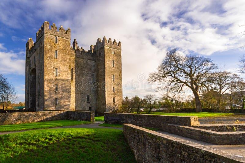 Castelo de Bunratty em Co clare imagens de stock