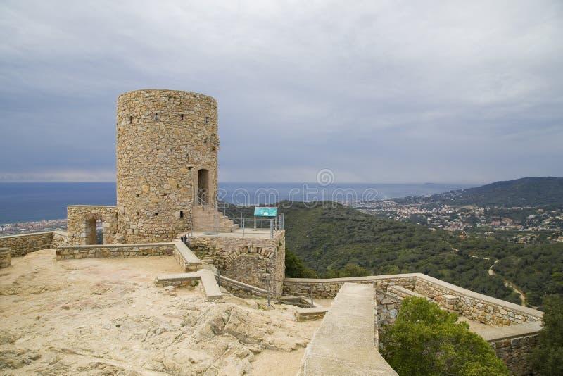 Castelo de Burriac, Barcelona, Espanha foto de stock