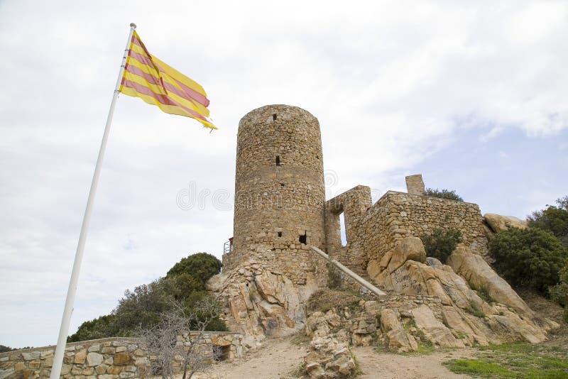 Castelo de Burriac, Barcelona, Espanha fotos de stock
