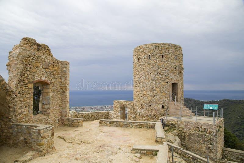 Castelo de Burriac, Barcelona, Espanha imagens de stock