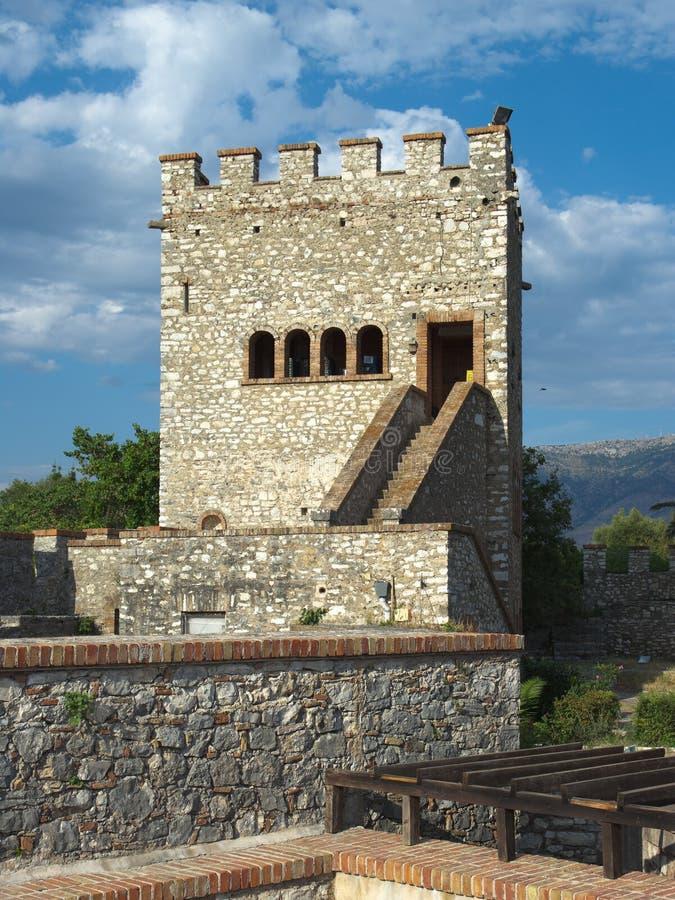 Castelo de Butrint, Albânia fotografia de stock