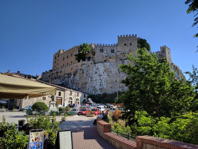 Castelo de Caccamo imagem de stock royalty free