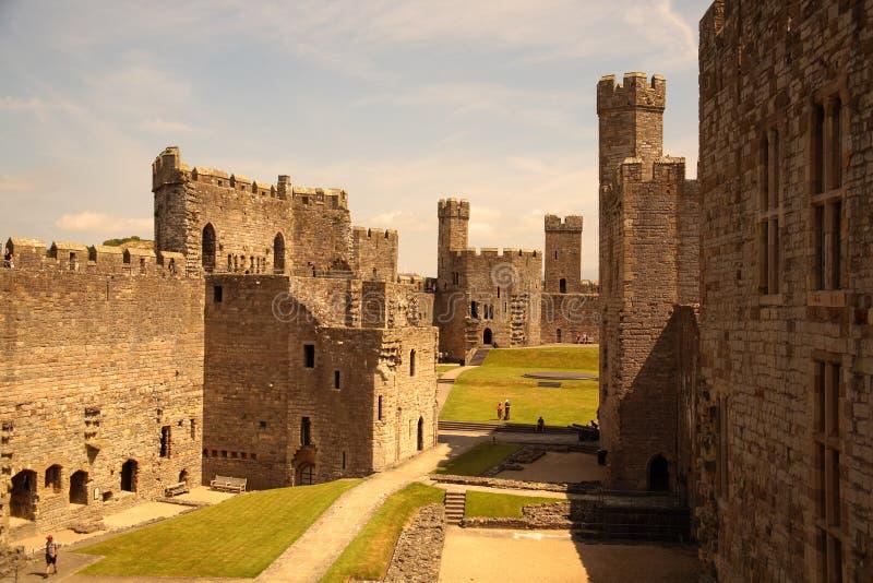 Castelo de Caernarfon foto de stock royalty free