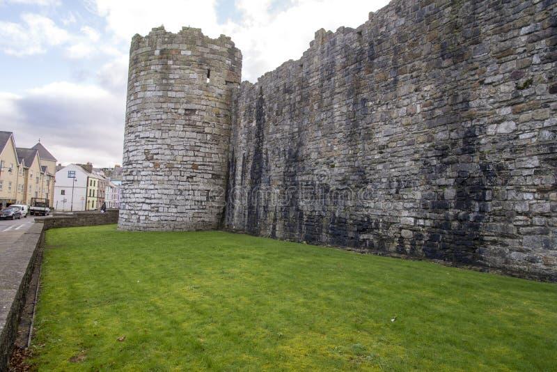 Castelo de Caernarfon - Gales norte fotografia de stock