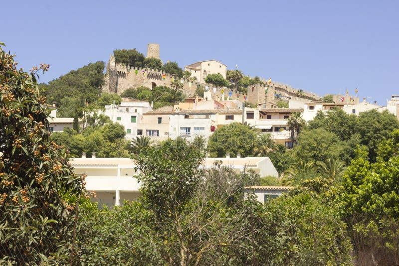 Castelo de Capdepera, Majorca foto de stock