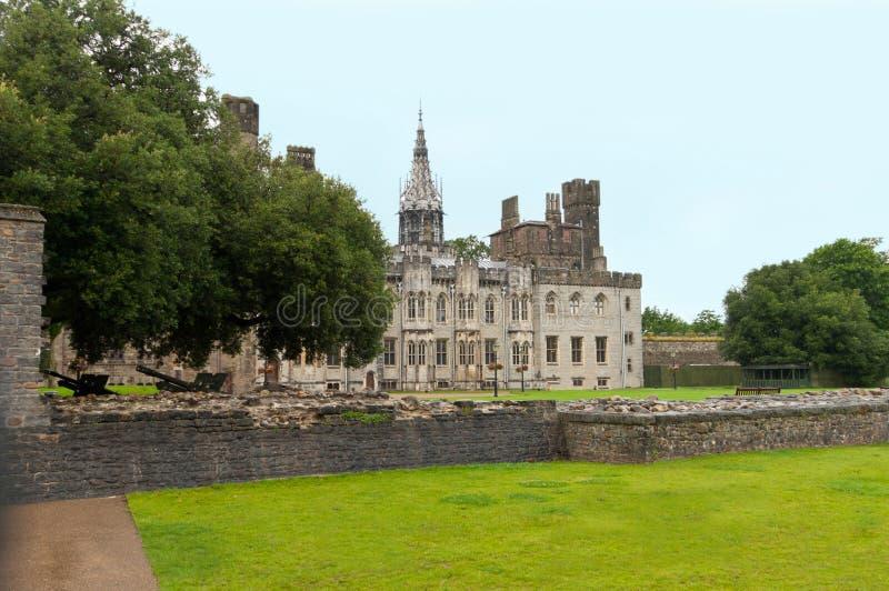 Castelo de Cardiff fotos de stock royalty free