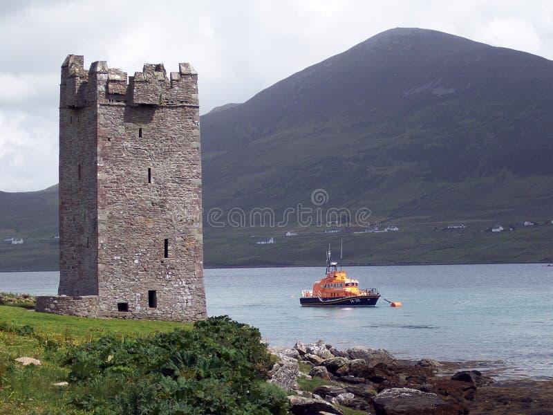 Download Castelo De Carrickkildavnet Foto de Stock - Imagem de ireland, nuvem: 530632