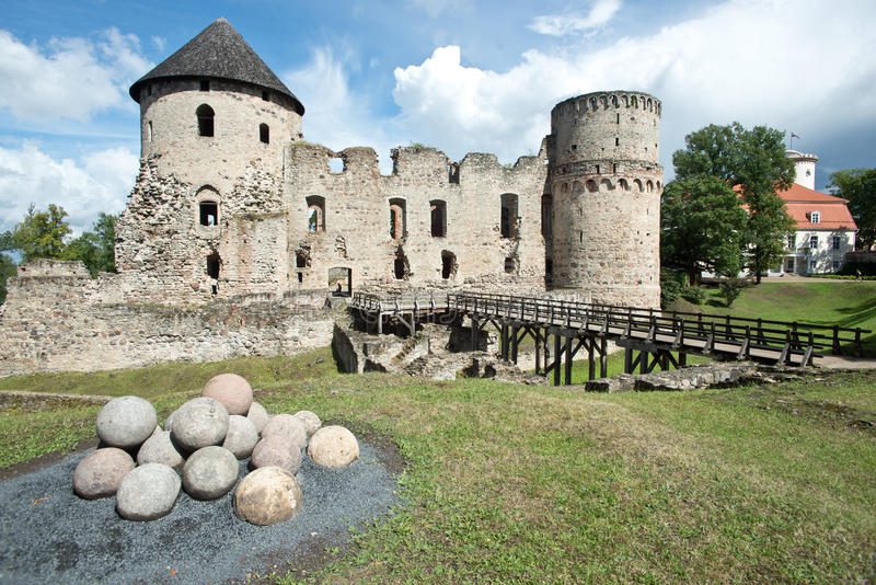 Castelo de Cesis fotos de stock royalty free