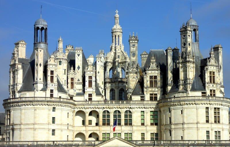 Castelo de Chambord é o castelo o maior no Loire Valley, França foto de stock