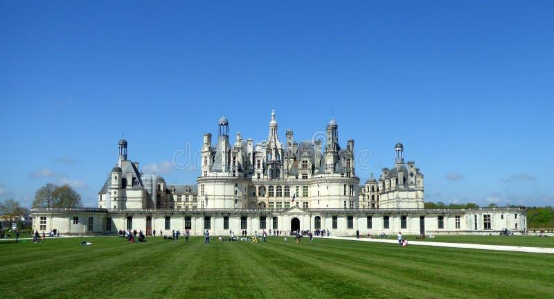 Castelo de Chambord é o castelo o maior no Loire Valley, França fotografia de stock