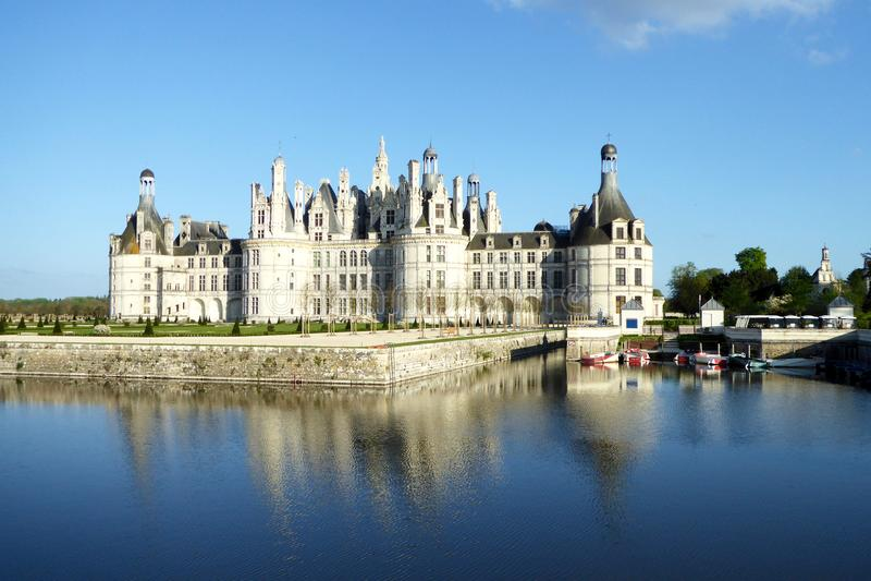 Castelo de Chambord é o castelo o maior no Loire Valley, França fotografia de stock royalty free