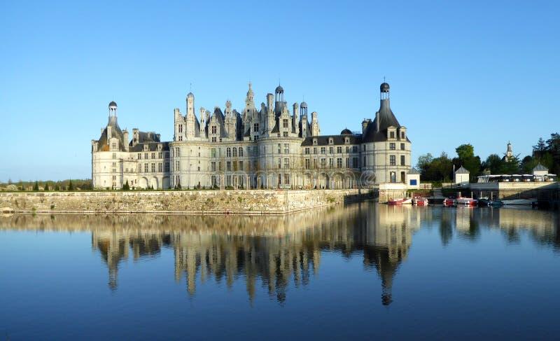 Castelo de Chambord é o castelo o maior no Loire Valley, França fotos de stock royalty free