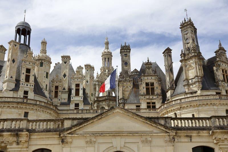 Castelo de Chambord, Chambord, Loire Valley, França - tiro agosto de 2015 imagem de stock royalty free