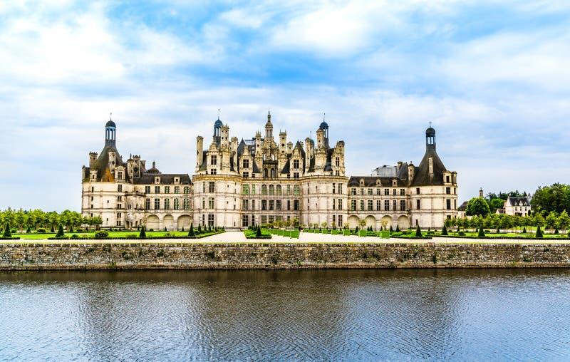Castelo de Chambord no Loire Valley, França fotos de stock