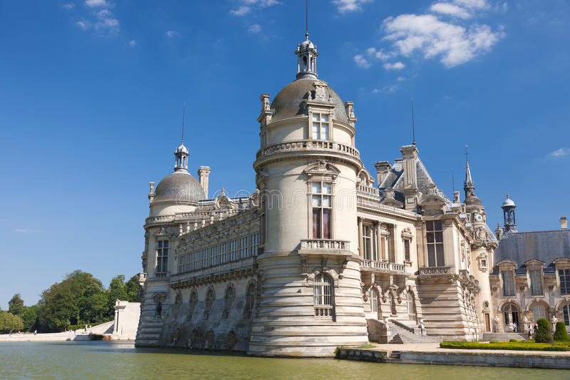 Castelo de Chantilly fotografia de stock royalty free