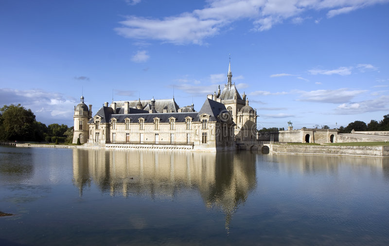 Castelo de Chantilly foto de stock royalty free