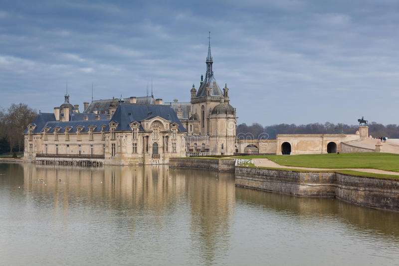 Castelo de Chantilly, Oise foto de stock royalty free