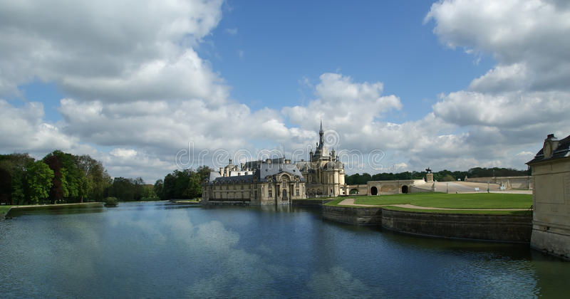 Castelo de Chantilly, France fotografia de stock