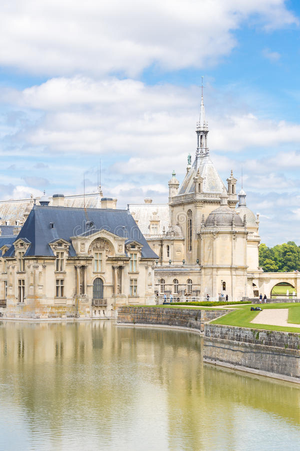 Castelo de Chantilly Paris foto de stock