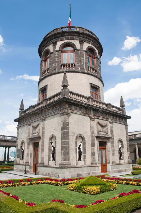 Castelo de Chapultepec, Cidade do México foto de stock