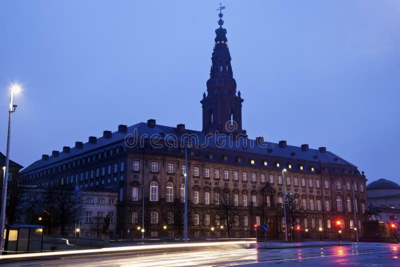 Castelo de Christiansborg fotografia de stock
