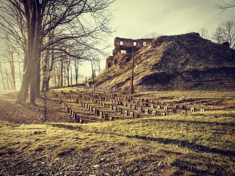 Castelo de Cimburk imagens de stock