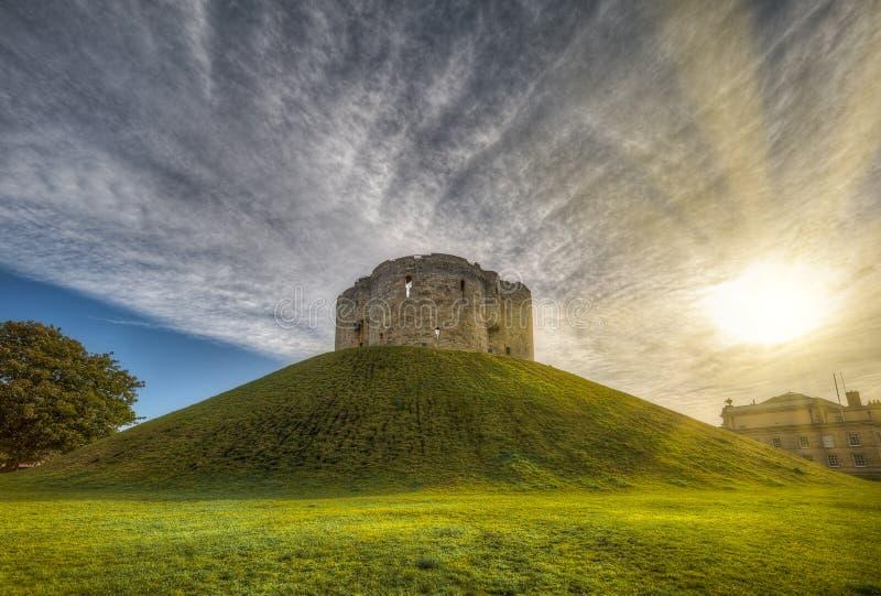 Castelo de The city of York no Reino Unido - Inglaterra fotografia de stock