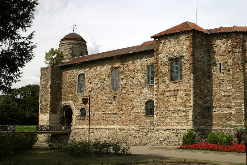 Castelo de Colchester foto de stock royalty free