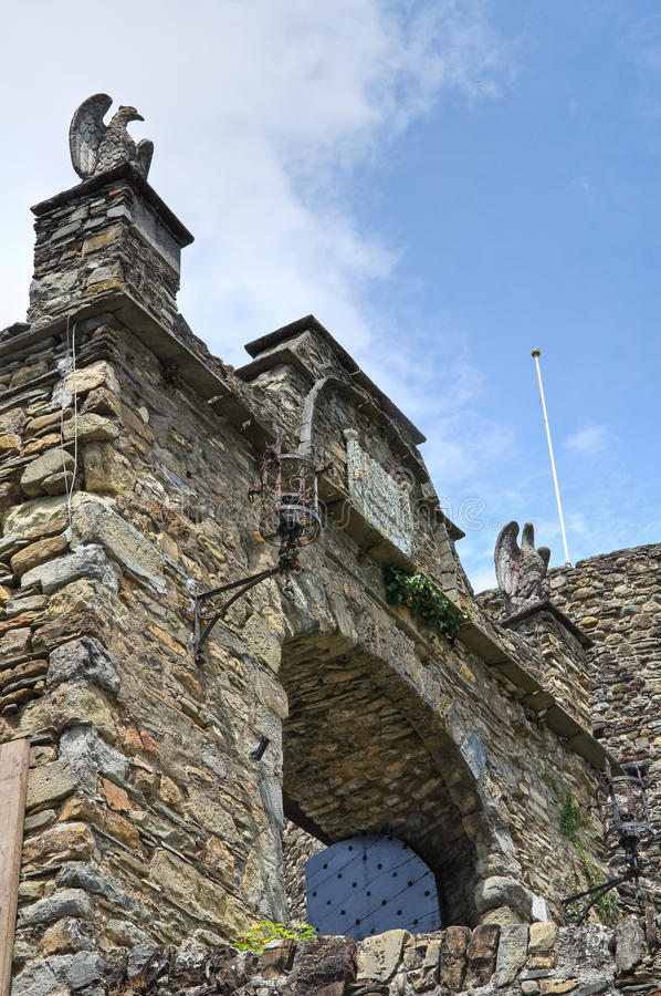 Castelo de Compiano. Emilia-Romagna. Itália. imagens de stock royalty free