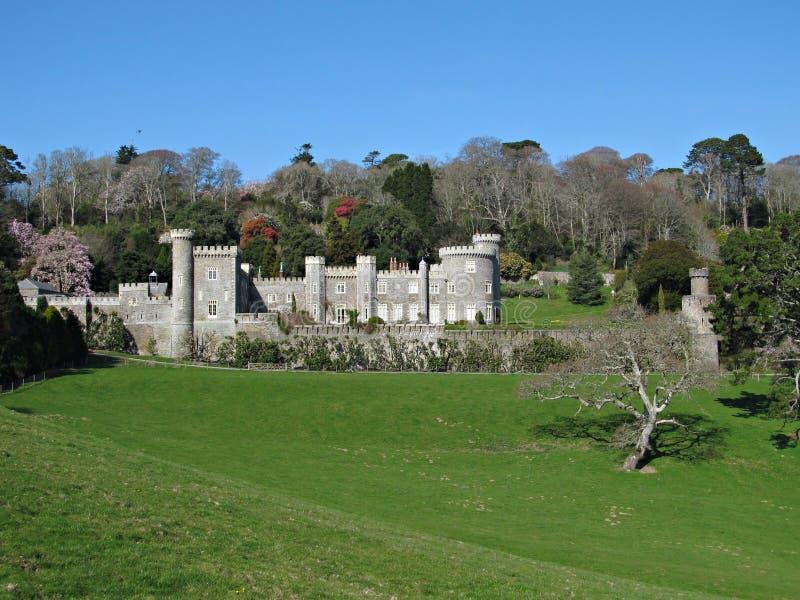 Castelo de Cornualha Caerhays fotos de stock royalty free
