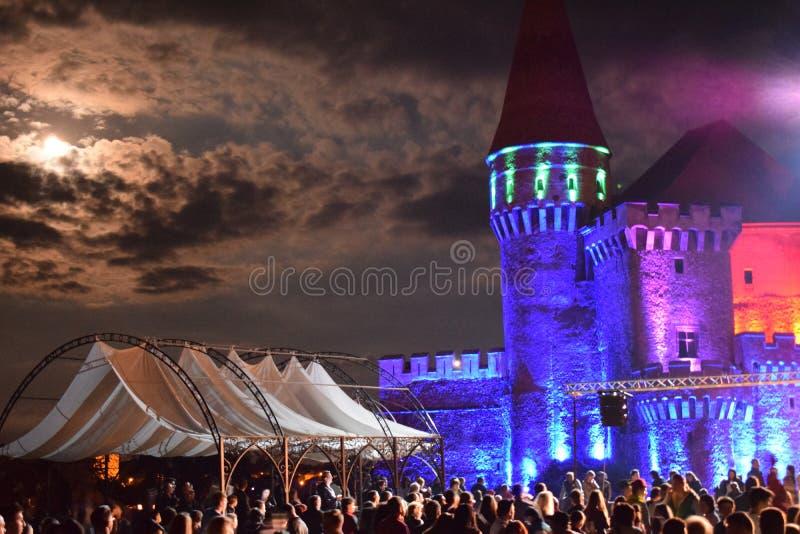 Castelo de Corvin fotos de stock