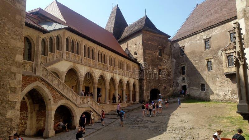 Castelo de Corvin em Romênia fotografia de stock