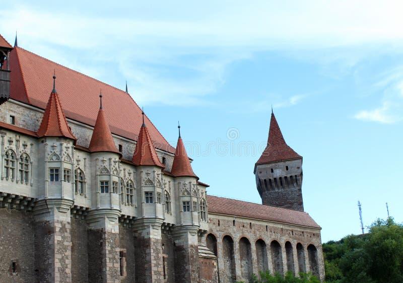 Castelo de Corvin, castelo de Hunedoara fotografia de stock
