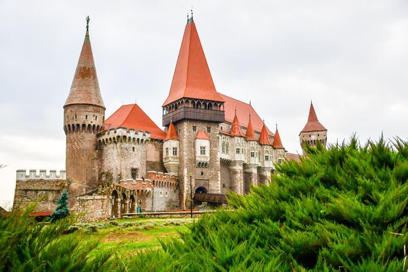 Castelo de Corvin, Romania fotografia de stock