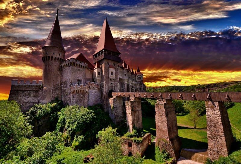 Castelo de Corvin, Romania fotos de stock
