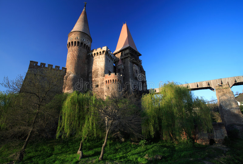 Castelo de Corvinesti fotos de stock royalty free