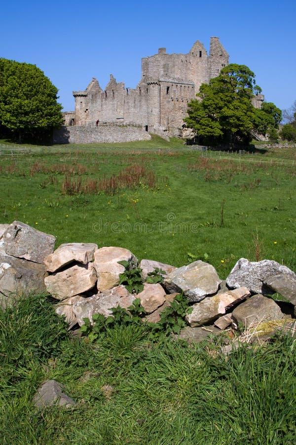 Castelo de Craigmillar, Edimburgo fotografia de stock