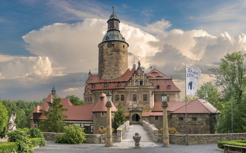 Castelo de Czocha, Silesia, Polônia fotografia de stock