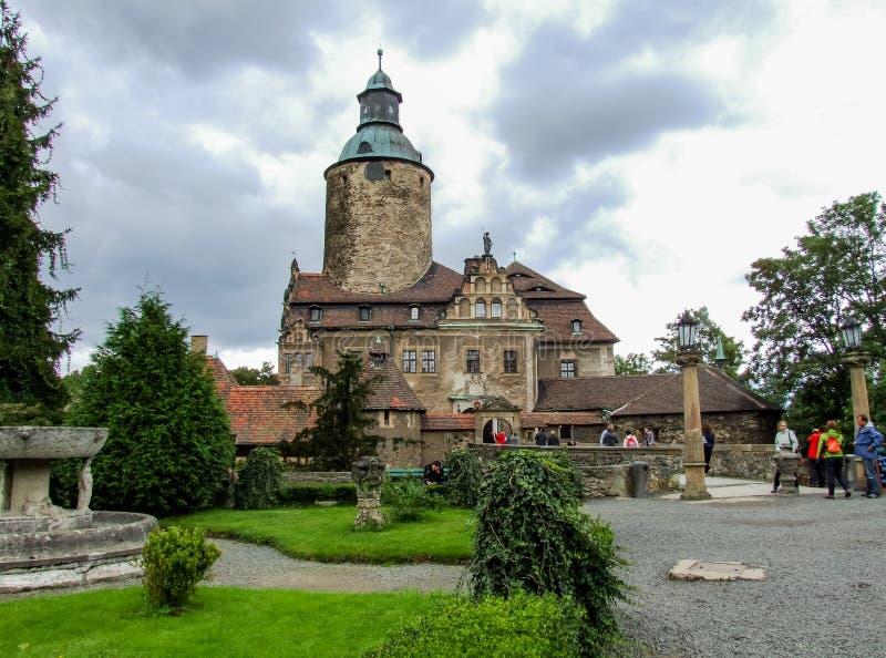 Castelo de Czocha situado em Sucha no Polônia fotos de stock royalty free