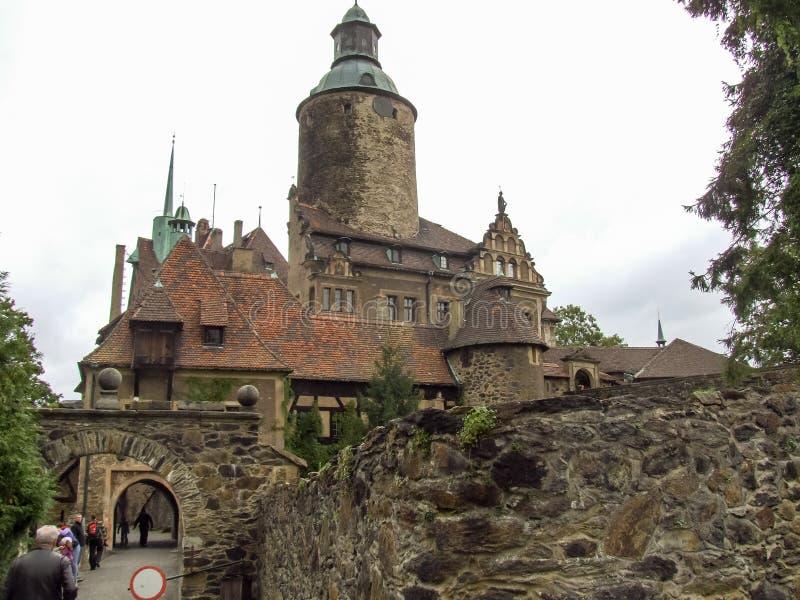 Castelo de Czocha situado em Sucha no Polônia fotografia de stock royalty free