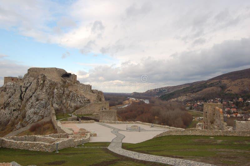 Castelo de Devin fotografia de stock