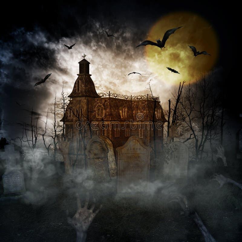 Castelo de Dia das Bruxas ilustração do vetor