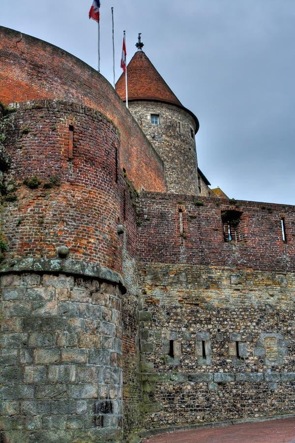 Castelo de Dieppe em Normandy, France imagem de stock