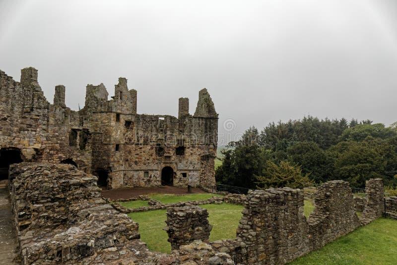 Castelo de Dirleton, Escócia fotografia de stock
