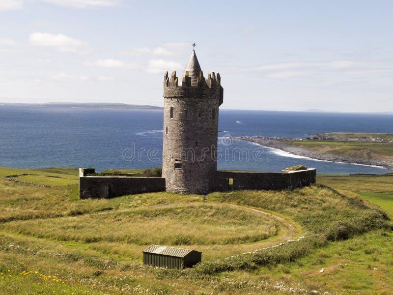 Castelo de Doonagore em Doolin Co clare imagens de stock