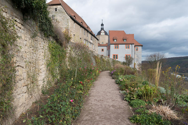 Castelo de Dornburg perto de Jena fotos de stock