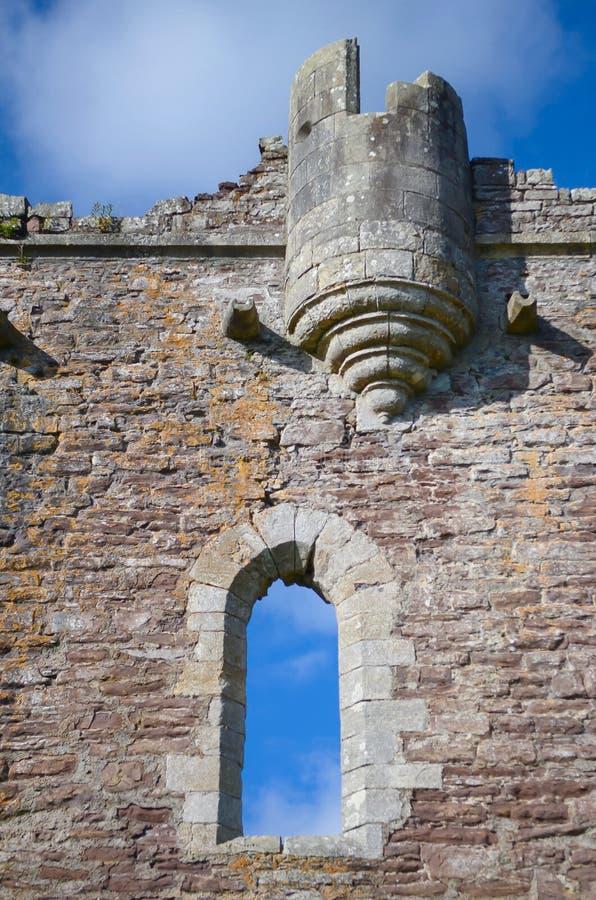Castelo de Doune, Scotland Uma fortaleza medieval construída pelo duque de Albany, do lugar do filme Monty Python e do Santo Graa fotos de stock