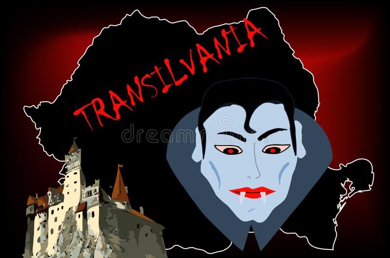 Castelo de Dracula ilustração do vetor